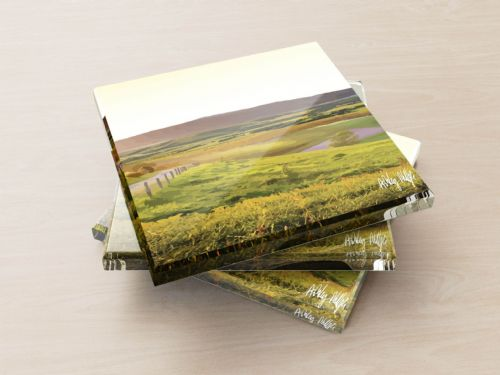 Rolling Hills Yellow - Glass Coasters